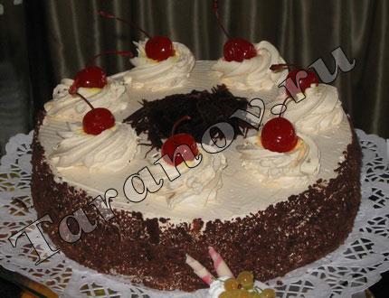 Торт шоколадный с медовым кремом